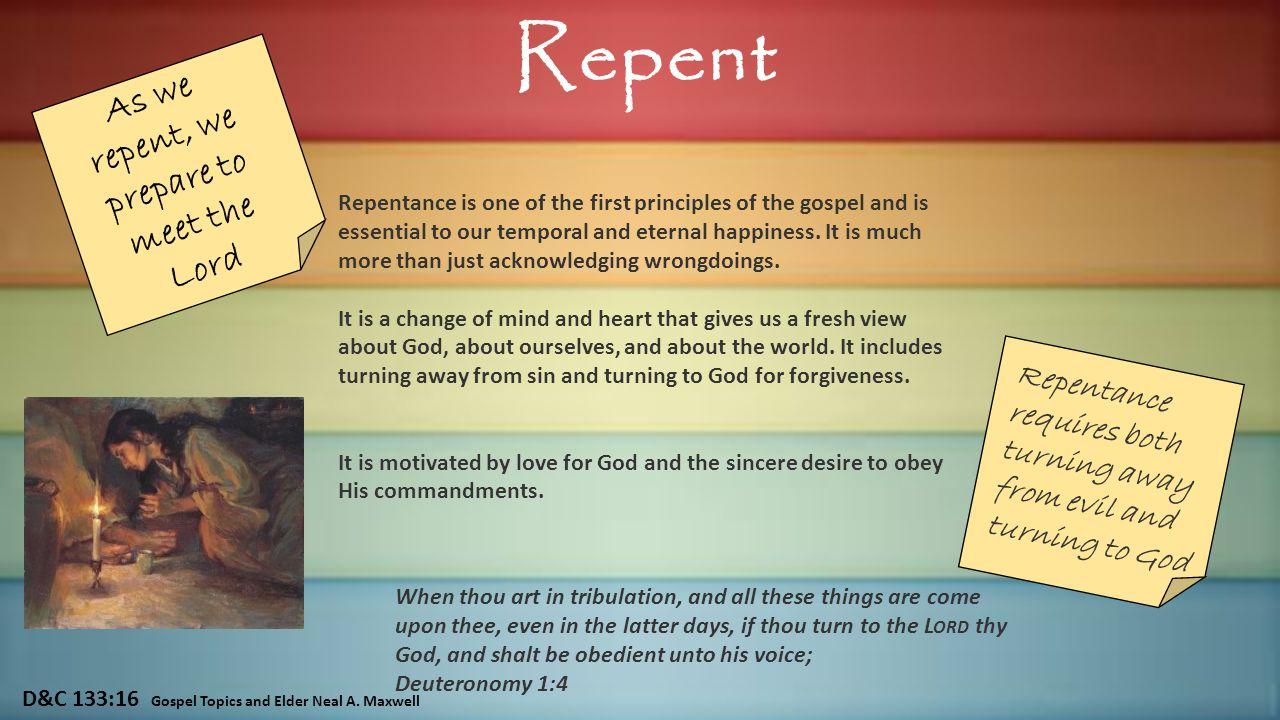 D&C 133:16 Gospel Topics and Elder Neal A.
