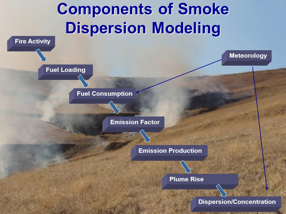Fuel Loading Fuel Consumption Emission Factor Emission Production Dispersion/Concentration Fire Activity Meteorology Components of Smoke Dispersion Mo