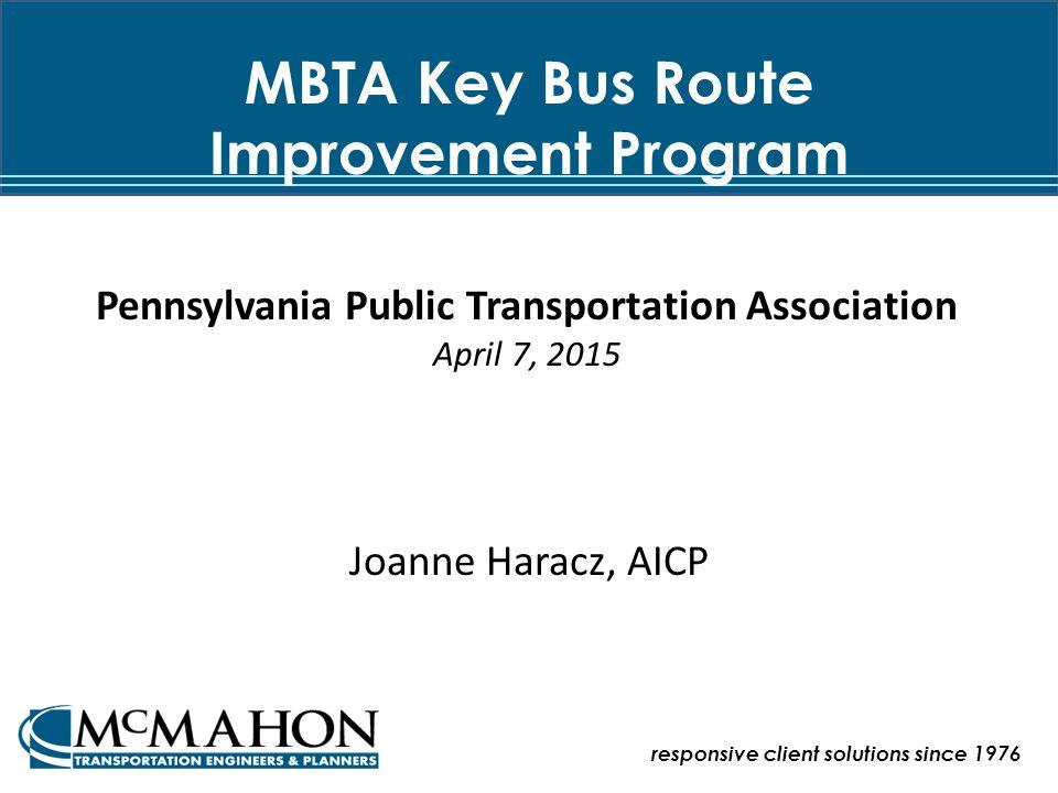 MBTA Key Bus Route Improvement Program The Project Planning Process Bus Stop Design