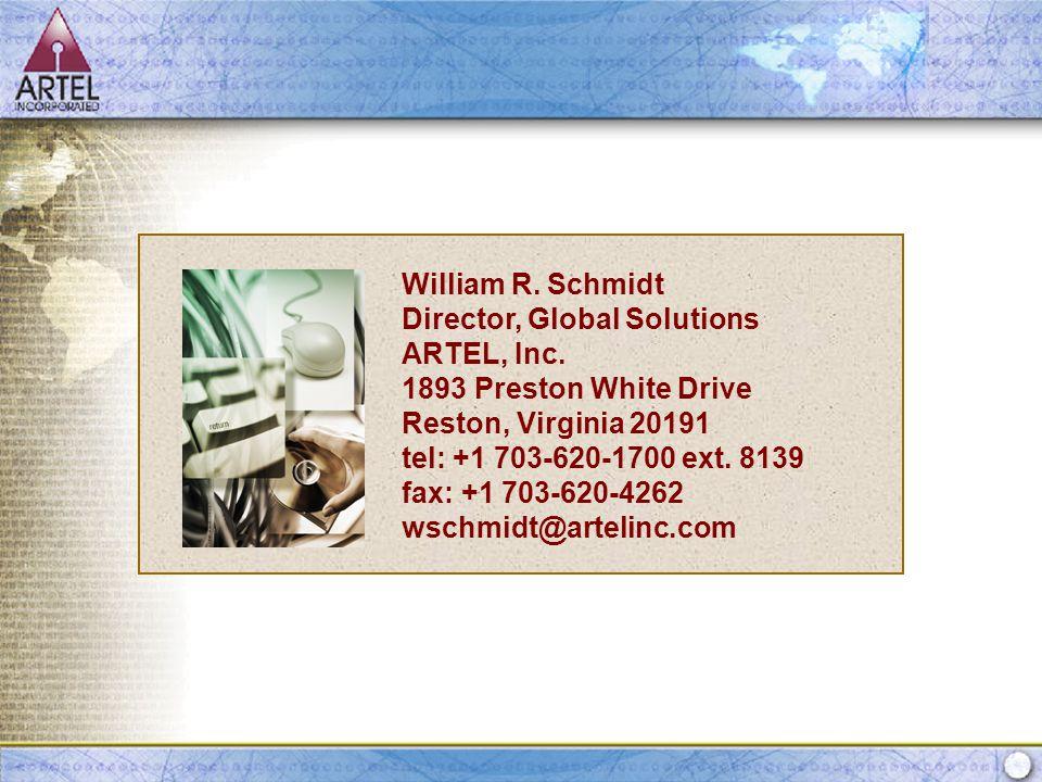 Prepared for: DISA September 17, 2003 William R. Schmidt Director, Global Solutions ARTEL, Inc.