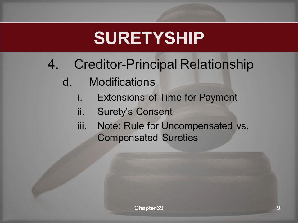 4.Creditor-Principal Relationship d.