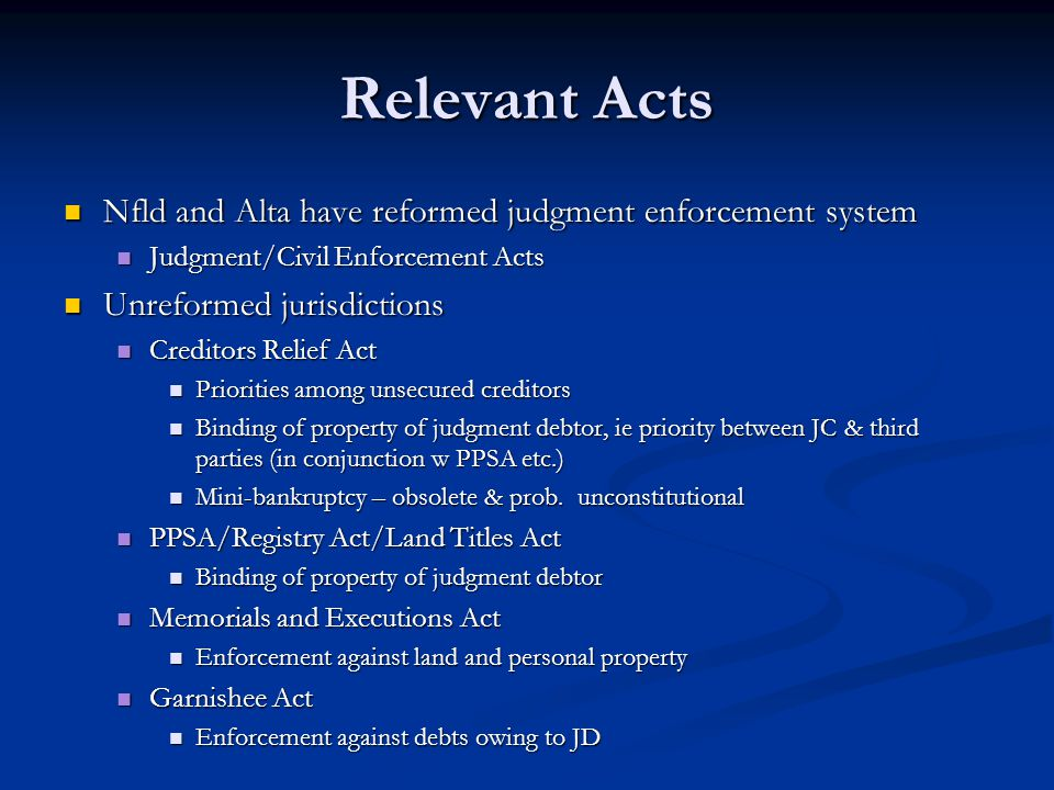 Establishing a Claim 2.3(14) In applying the provisions of this Act for the purposes of determining the entitlement of creditors to share in the proceeds of a levy by the sheriff, a reference to an execution or certificate or the delivery of an execution or certificate to the sheriff shall be construed as a reference to a registered notice of judgment or the registration of a notice of judgment, unless the context otherwise requires.