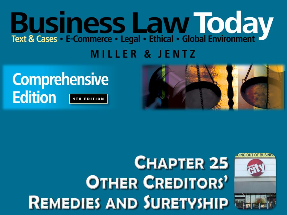 Suretyship: Promise by a third person to be primarily liable for the debtor's obligation to the creditor.