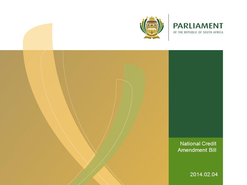 National Credit Amendment Bill 2014.02.04