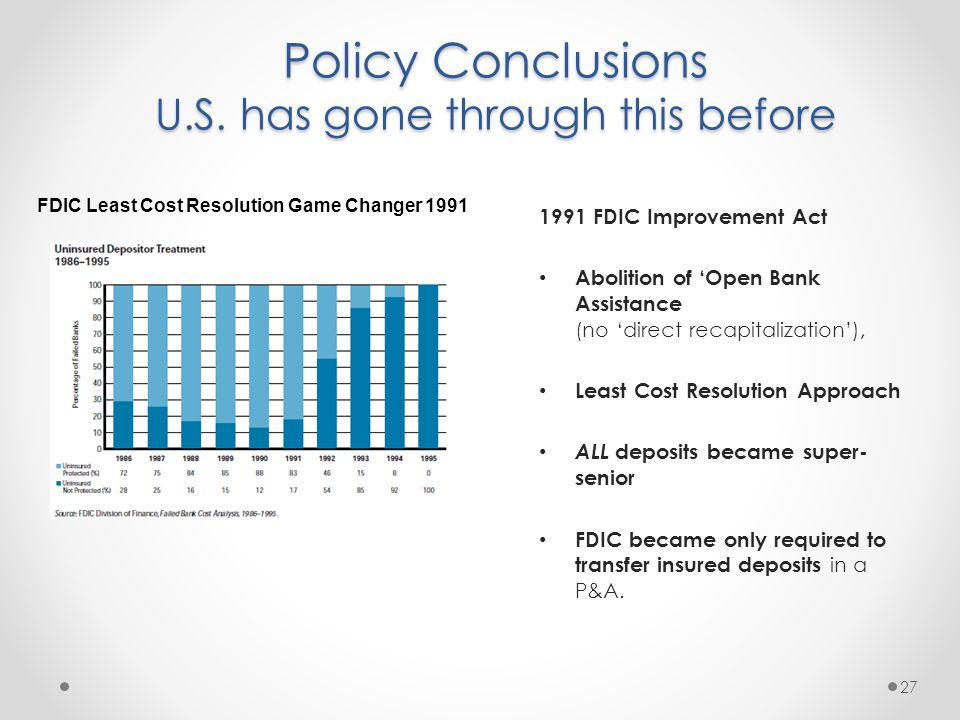 Policy Conclusions U.S.