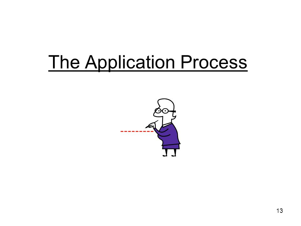 13 The Application Process