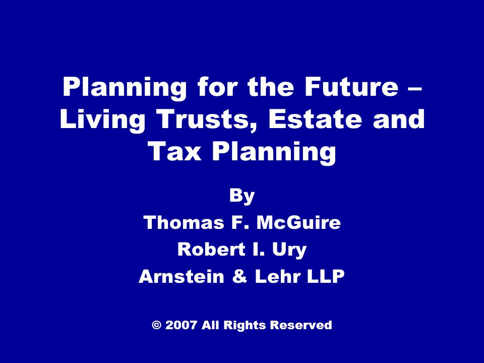 Basic Estate Planning Why do I need a Will?