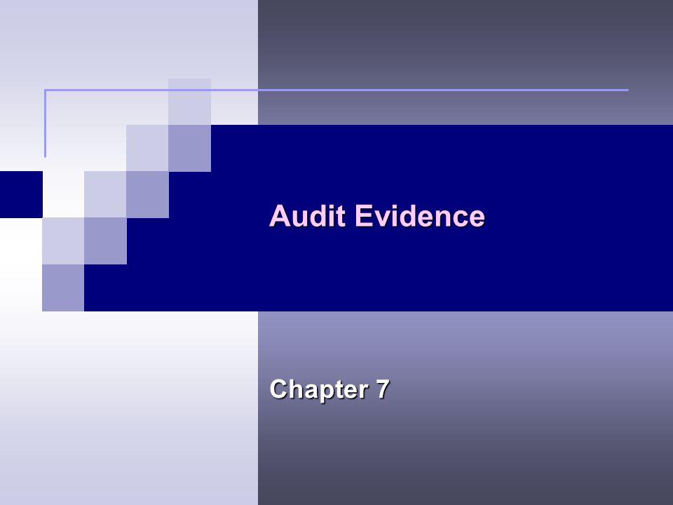 Audit Evidence Chapter 7