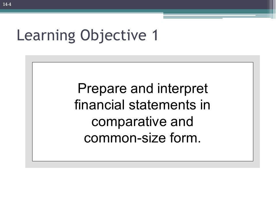 Quick Check Which of the following statements describes horizontal analysis.