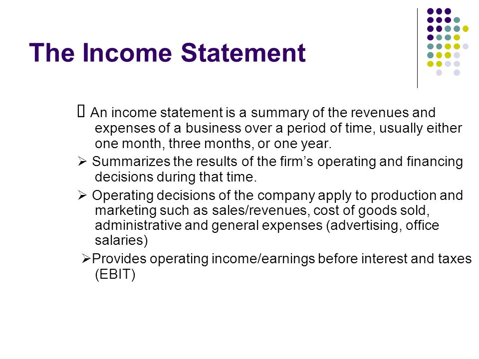  Results of financing decisions are reflected in the remainder of the income statement.