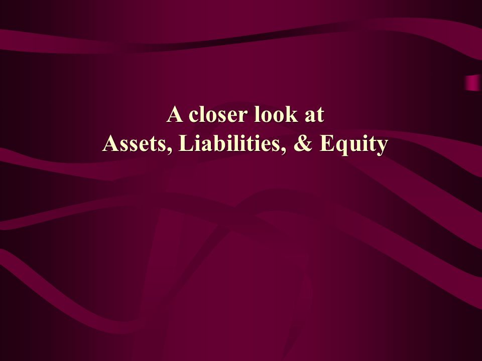 Think about it… Creditor Capital Equity Capital Invested Capital Liabilities Equity Assets InvestedCapital Assets