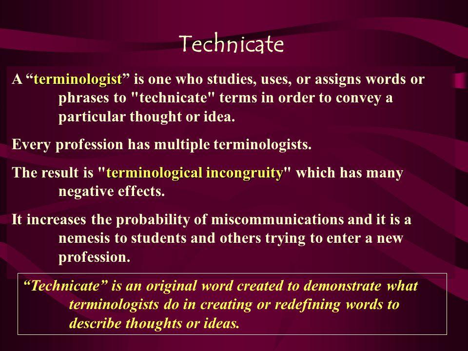 Variations in Terminology