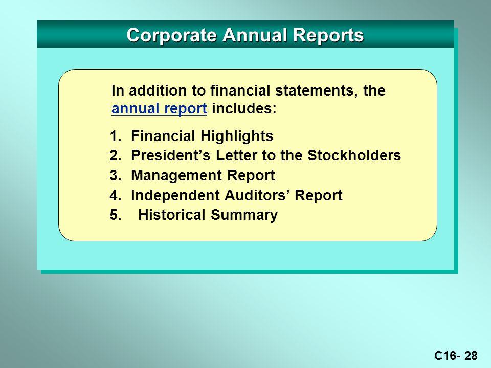 C16- 28 Corporate Annual Reports 1.
