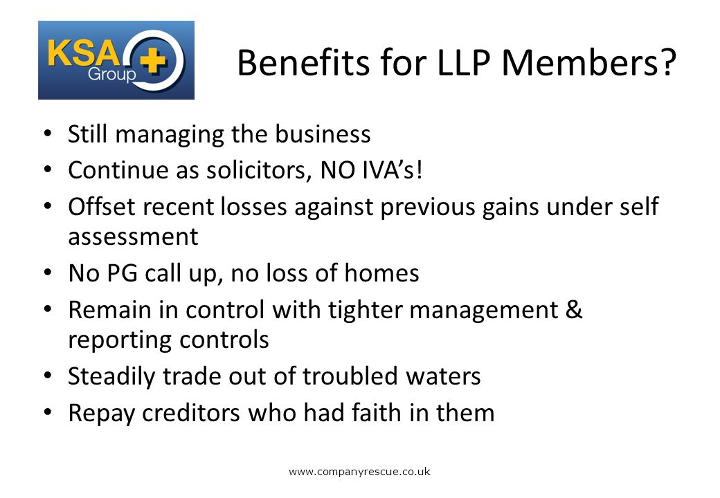 A Lifeline for Business Benefits for LLP Members.