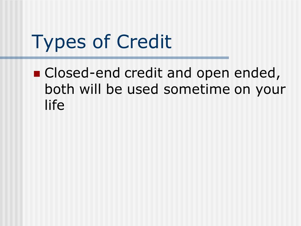 Chapter 13 Bankruptcy If you have a regular income, propose a plan for using future earnings to eliminate debt over time Usually keep all or most property Plan can be as long as 5 years, makes payments to a representative who then distributes the payments to creditors