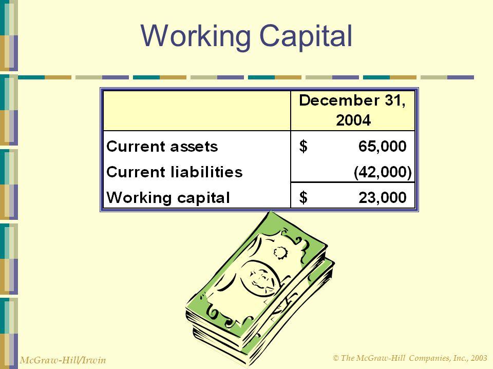 © The McGraw-Hill Companies, Inc., 2003 McGraw-Hill/Irwin Working Capital