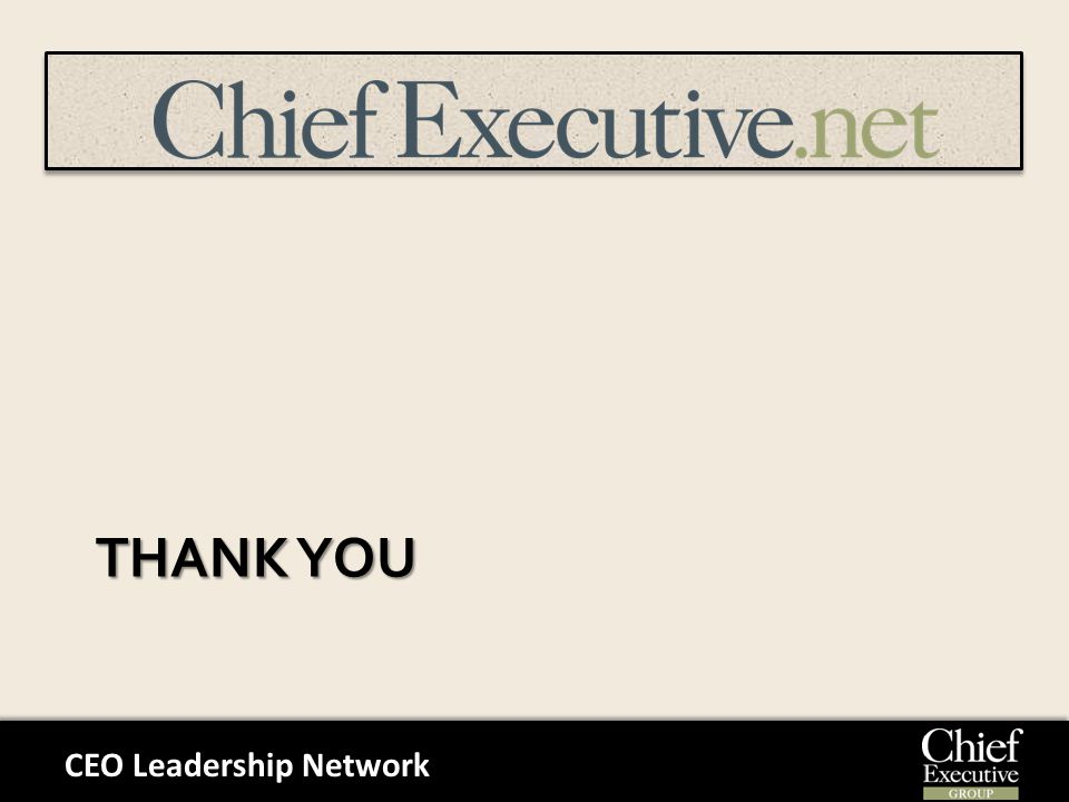CEO Leadership Network THANK YOU
