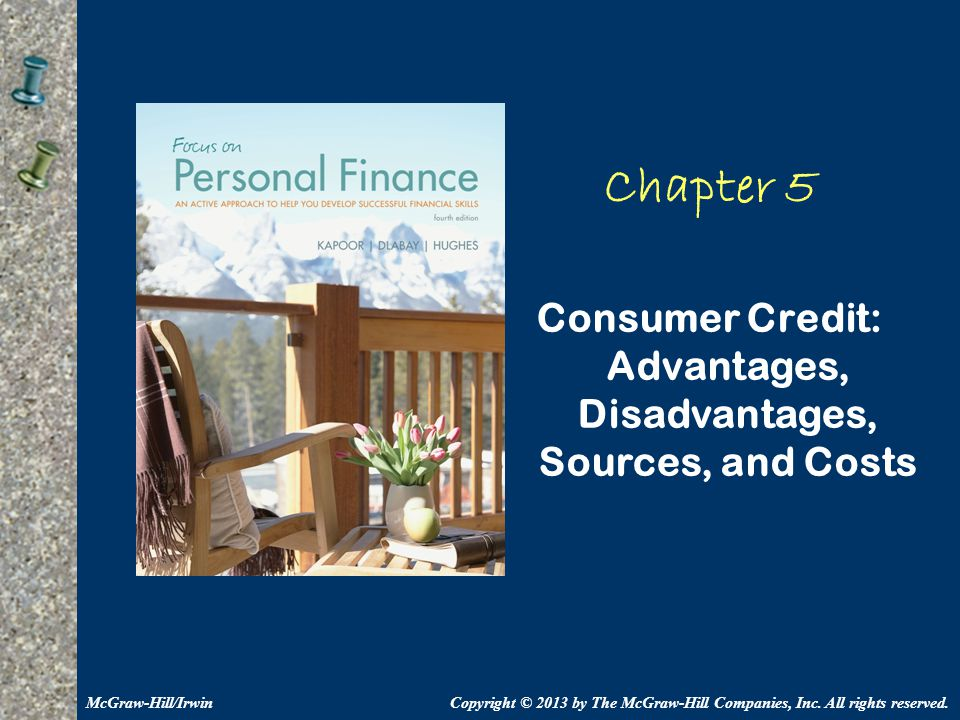 5-52 Chapter Summary Learning Objective LO5.1 Consumer credit is the use of credit by individuals and families for personal needs.