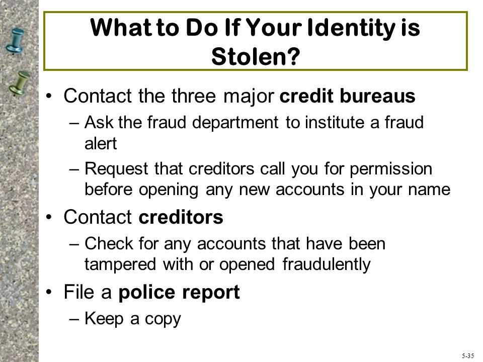 5-35 What to Do If Your Identity is Stolen.