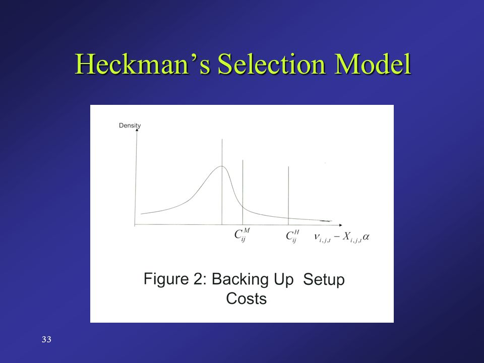 33 Heckman's Selection Model