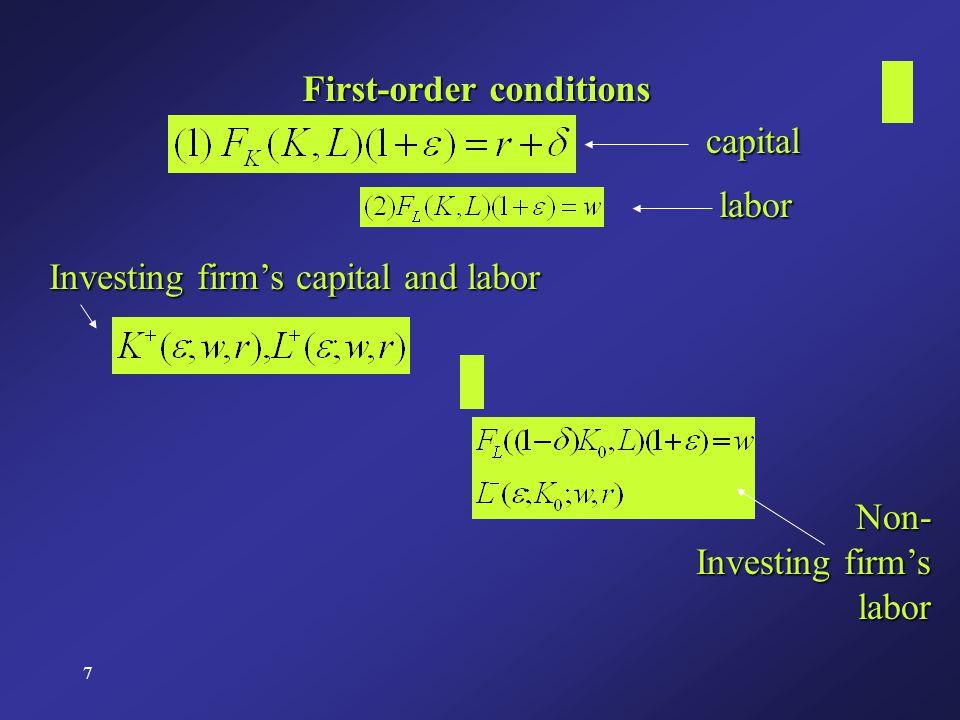 28 For a random sample, the classical assumptions regarding the error term hold: Error term in equation (8) Error term in equation (10) From (9) and (11)