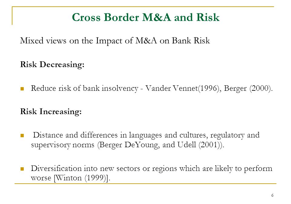 27 Summary of Results There is a significant increase in yield spread on the announcement of cross-border M&As.