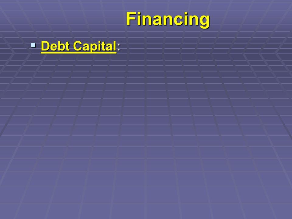 Financing  Debt Capital: