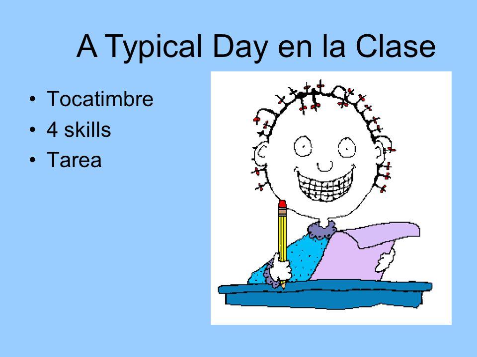 A Typical Day en la Clase Tocatimbre 4 skills Tarea