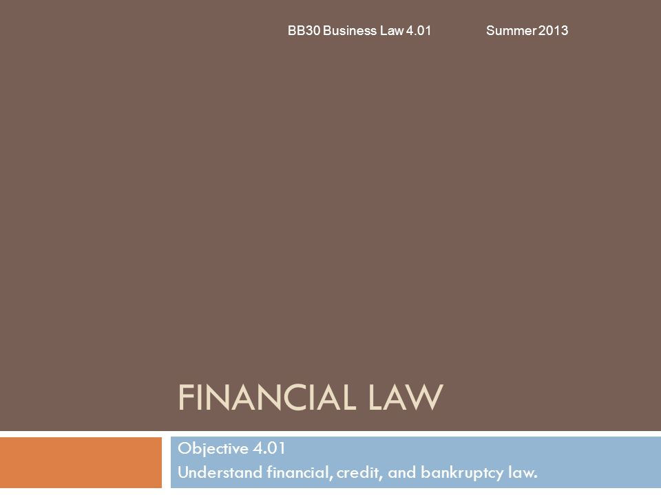 Credit Basic Terms BB30 Business Law 4.01Summer 2013  Credit Report  Report that summarizes a consumer's financial history including number of credit cards, payments to credit cards, and number of late payments (if any)  Creditors use this report to determine a credit applicant is creditworthy or a good credit risk