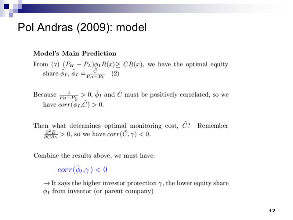 Pol Andras (2009): model 12