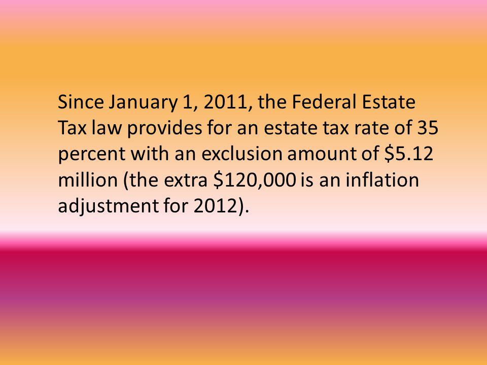The current law expires ( sunsets ) on December 31, 2012!