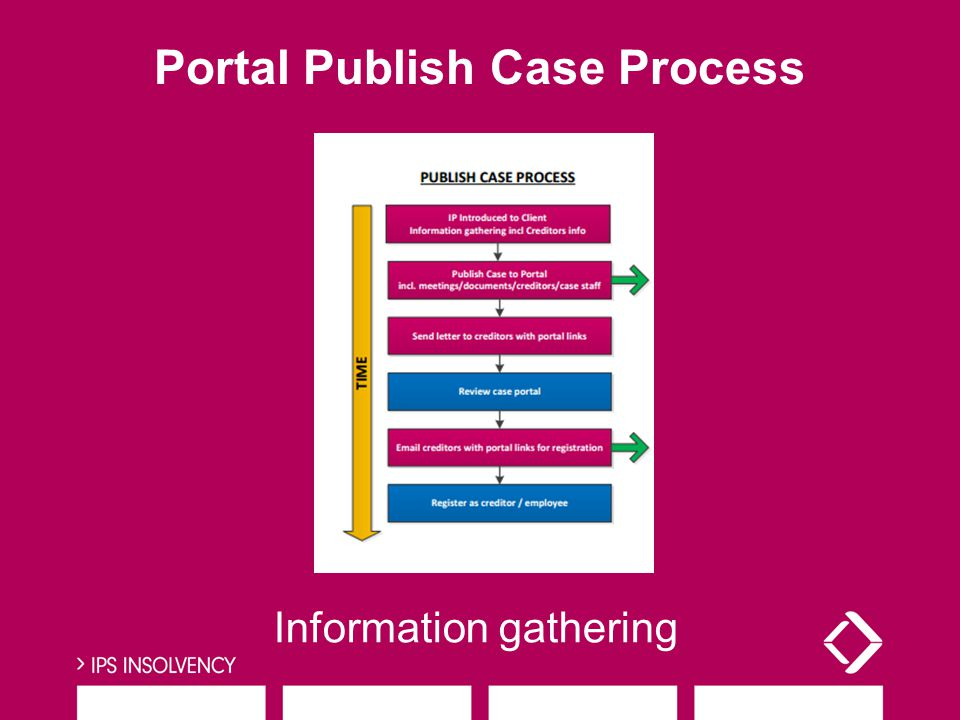 Portal Publish Case Process Information gathering
