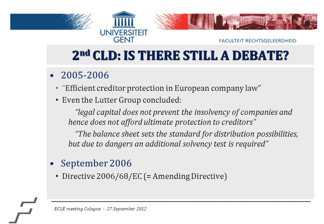 2 nd CLD: IS THERE STILL A DEBATE.