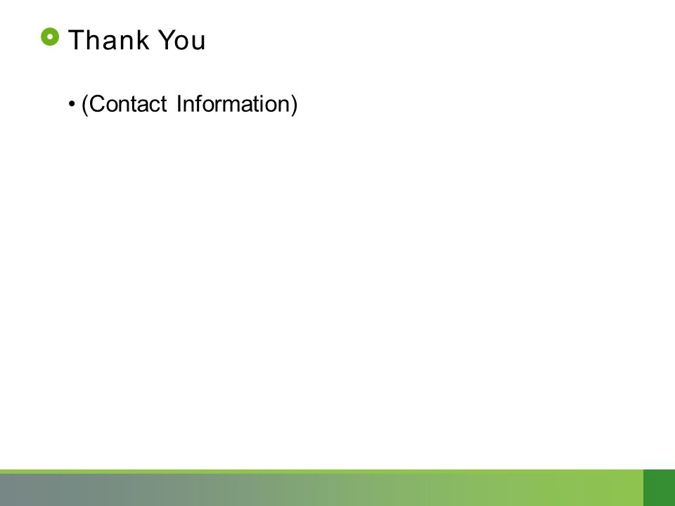 Thank You (Contact Information)
