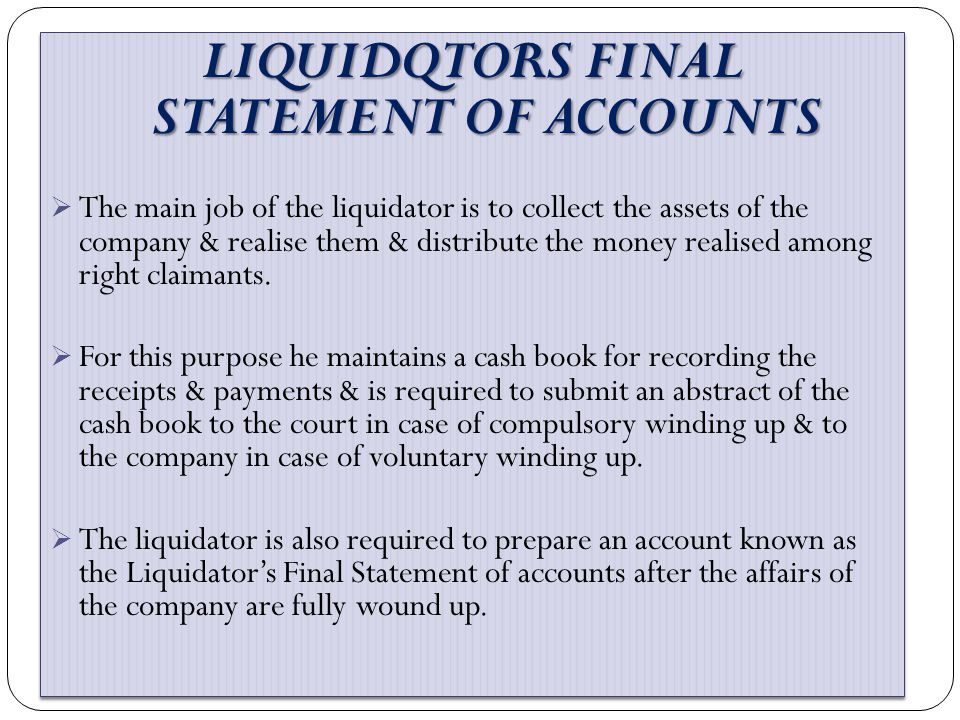 DEFICIENCY ACCOUNT (LIST H) PARTICULARS AMOUNT PARTICULARSAMOUT TO EXCESS OF ASSET OVER CAPITAL TO NET TRADING ASSSET TO PROFITS AND INCOME OTHER THAN TRADING PROFITS TO DEFICENCY 1,00,000 4,50,.000 1,40,000 7,59,750 BY NET TRADING LOSSES AFTER DEPRICIATION, TAXATION ETC BY LOSSES OTHER THAN TRADING LOSSES SEPECULATION LOSS 50,000 PENALTY IMPOSED BY EXISCE AUTORITIES 3,50,000 BY ASTIMATED LOSSES NOW WRITTEN OFF B/R 6,000 DEBTORS 1,56,000 STOCK 2,40,000 CONTIGENT LIABILTY 60,000 5,87,750 4,00,000 4,62,000