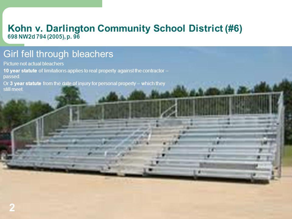 Kohn v. Darlington Community School District (#6) 698 NW2d 794 (2005), p.
