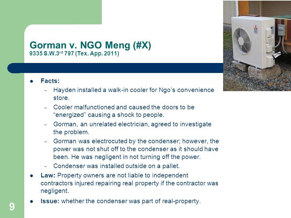 Gorman v. NGO Meng (#X) 9335 S.W.3 rd 797 (Tex. App.