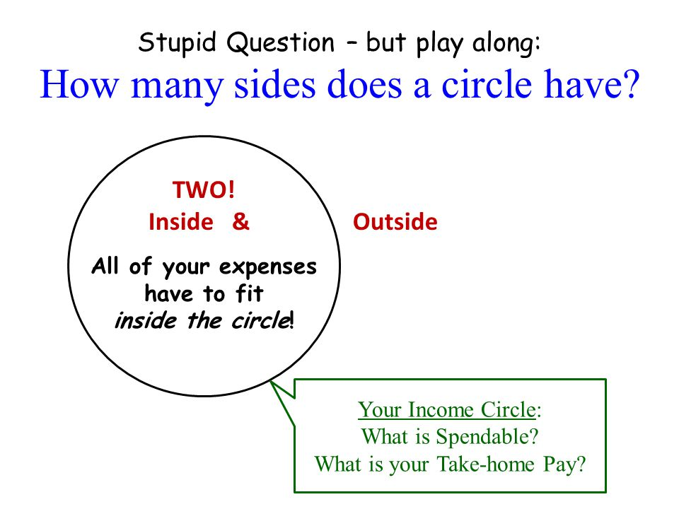 Stupid Question – but play along: How many sides does a circle have.