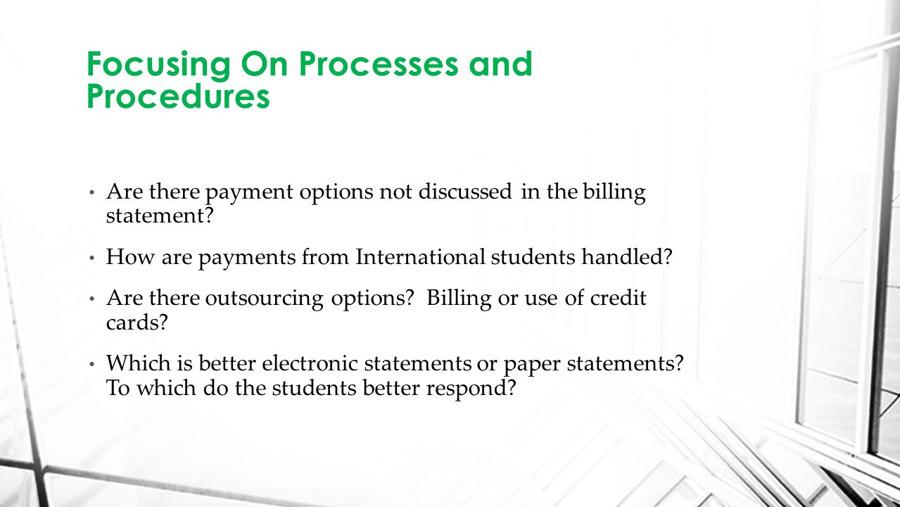 Are there payment options not discussed in the billing statement.