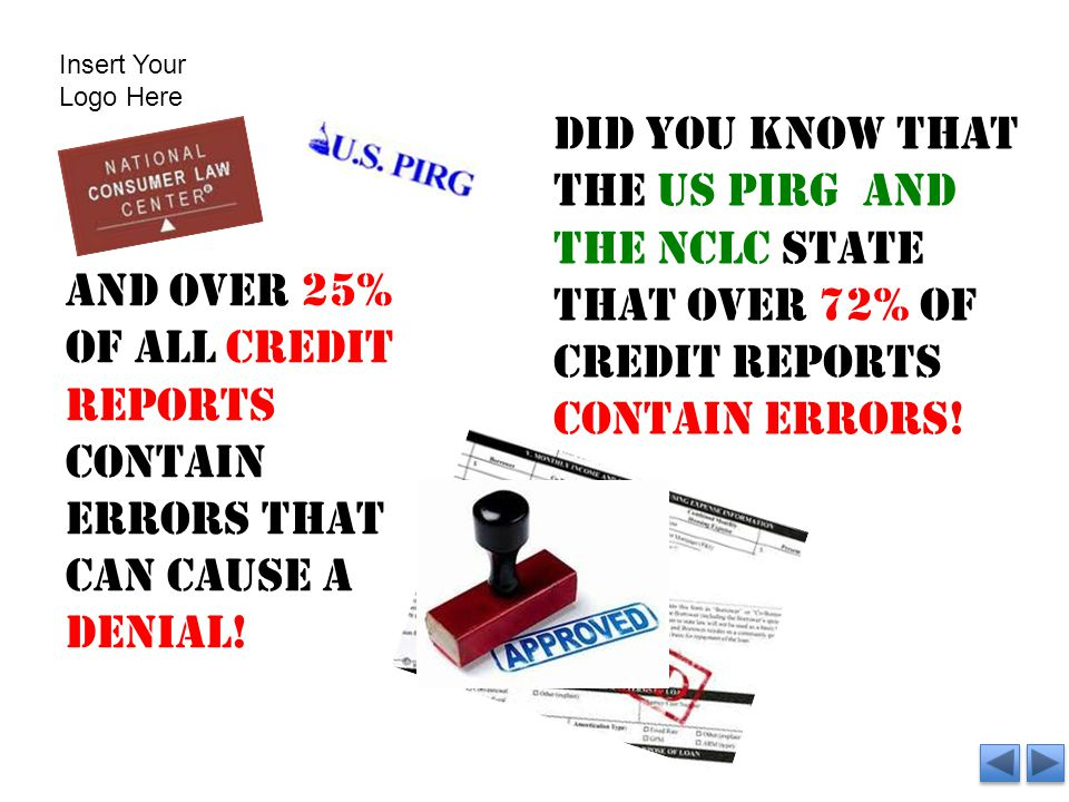 Did you know that the us pirg and the nclc state that over 72% of credit reports contain errors.