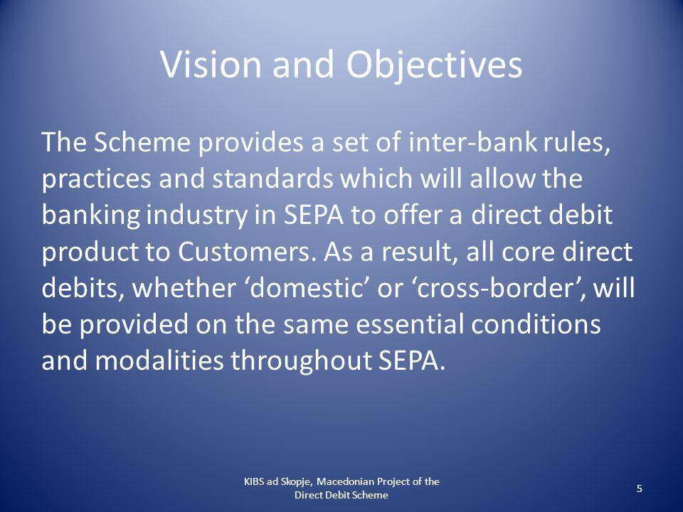The Four Corner Model KIBS ad Skopje, Macedonian Project of the Direct Debit Scheme 6