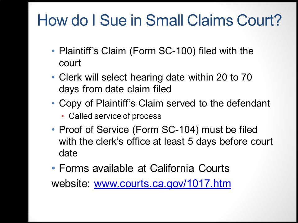 Small Claims Court Legal Resources: a Guide for Public Libraries ...