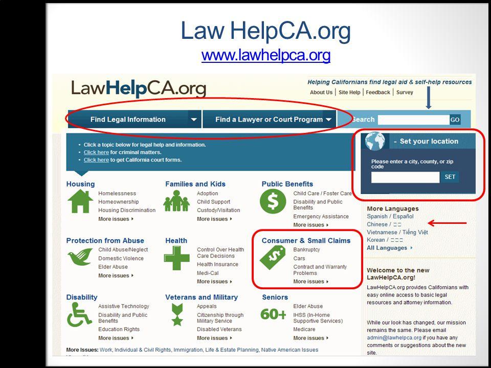 Law HelpCA.org www.lawhelpca.org www.lawhelpca.org