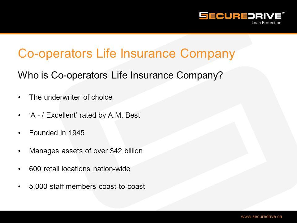 www.securedrive.ca Co-operators Life Insurance Company Who is Co-operators Life Insurance Company.