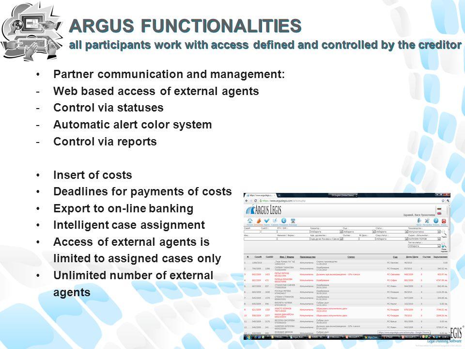 Argus Legis Version 2.10/2011 Copyright of SIS Technology www.arguslegis.com Ratcheva & Savcheva Law Firm EU-BG Legal Consultants www.eu-bg.com SIS Technology www.sistechnolgy.com Argus Synergy Team