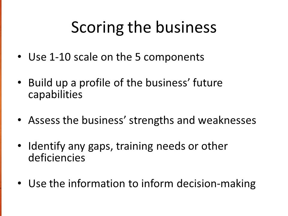 Review and Wrap-up Successful business activity comes from sound planning and strategy These simple tools, FiMO, RECOiL and BBS should help any business to: – See where it stands at present – Help identify where it wants to go (set future goals) – Provide guidance on how these goals may be achieved – Provide frameworks for measuring extent of success – Survive in the short-term – Prosper and grow in the medium- to long-term – Sustain its competitive advantage