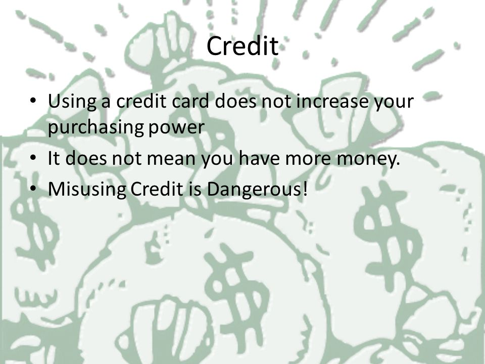 Capacity Your ability to pay off your new loan How much do you earn? What is your current debt?