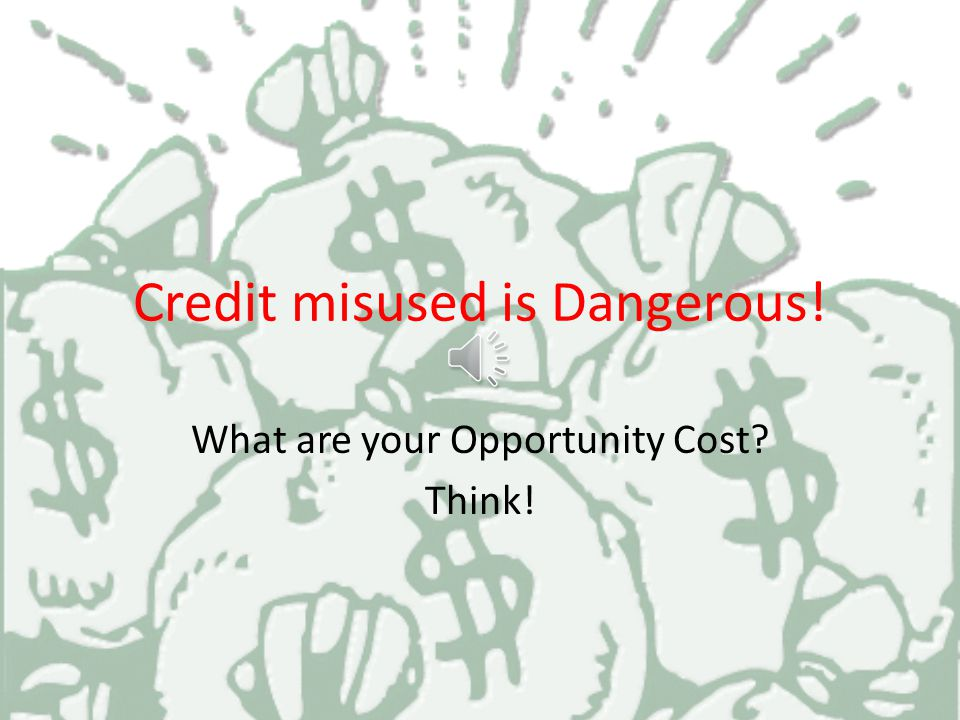 Credit Using a credit card does not increase your purchasing power It does not mean you have more money.