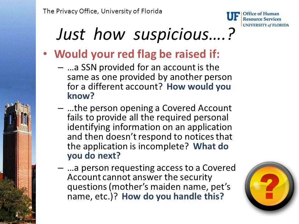 Just how suspicious…..