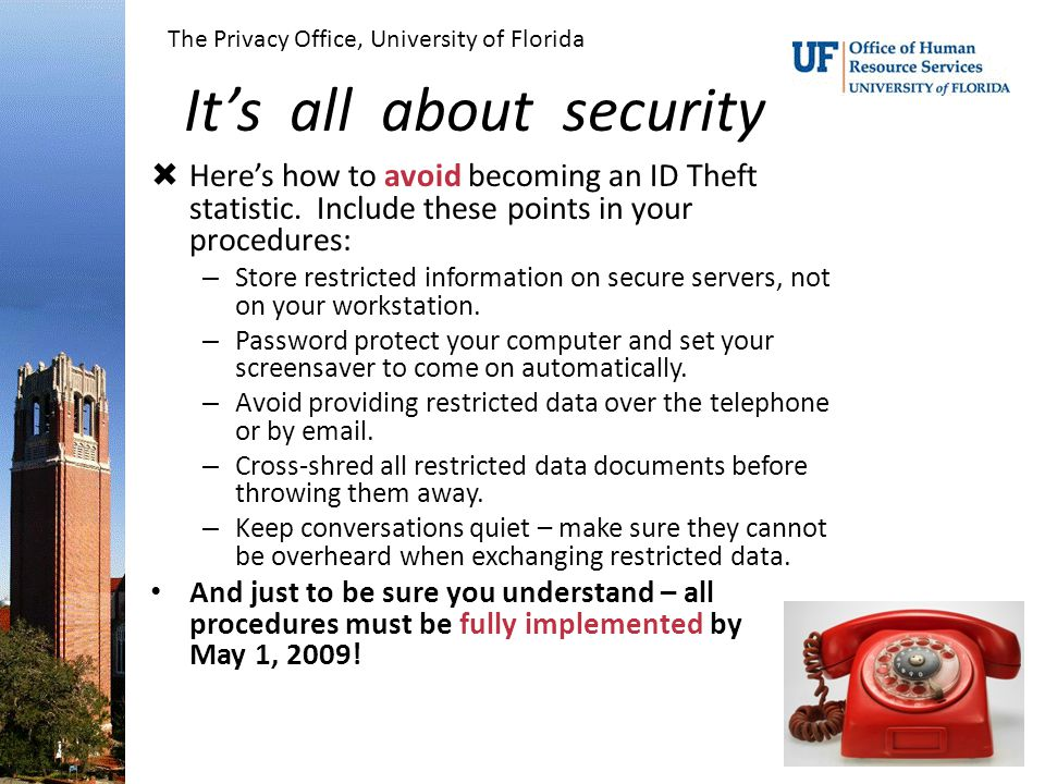 It's all about security  Here's how to avoid becoming an ID Theft statistic.